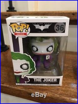 Funko POP The Dark Knight JOKER BANK ROBBER #37 BANE #20 BATMAN #19 JOKER #36
