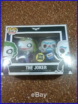 Funko POP The Dark Knight Joker Bank Robber 2-pack 480 LE GITD Gemini Exclusive