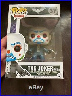 Funko POP! The Dark Knight Masked Joker Bank Robber # 37 Vaulted Rare