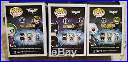 Funko POP The Dark Knight Set of 3 Bank Robber Joker, The Joker, & Batman