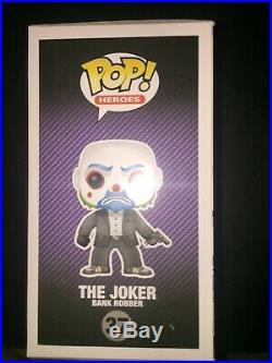 Funko POP! Vinyl Heroes The Dark Knight Trilogy The Joker Bank Robber # 37 Rare
