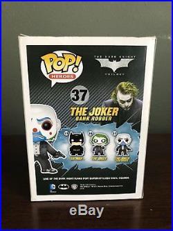 Funko Pop #37 Vinyl The Joker Bank Robber Rare Retired DC The Dark Knight