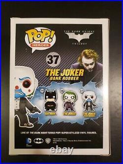 Funko Pop Dark Knight Heros The Joker Bank Robber #37 Vaulted Authentic