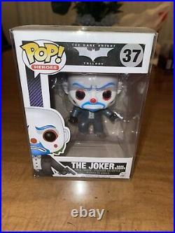 Funko Pop! Heroes 37 The Joker Bank Robber VAULTED The Dark Knight Trilogy Vinyl