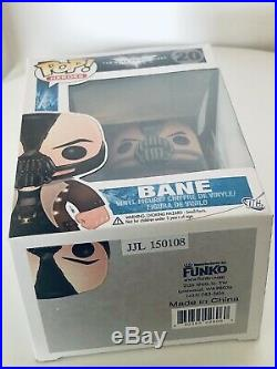 Funko Pop! Heroes The Dark Knight Rises BANE (20) Retired/vaulted With Protector