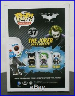 Funko Pop! The Dark Knight Bank Robber Joker 37 (withProtector)-NewVaulted/Retired