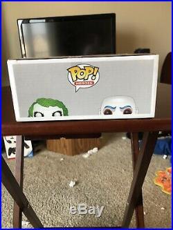 Funko Pop The Dark Knight Heroes The Joker 2 Pack Gemini Glow GITD 480 Bank Rob