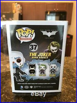 Funko Pop The Dark Knight Rises Bank Robber Joker Vaulted with 0.50mm Protector