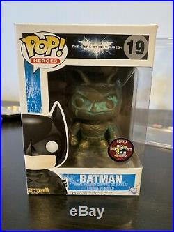 Funko Pop The Dark Knight Rises Patina Batman #19 2012 Sdcc Exclusive 480 Pcs Le