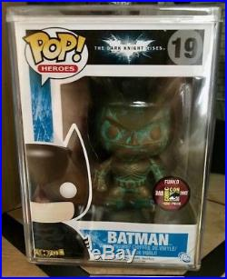 Funko Pop! The Dark Knight Rises Patina Batman Sdcc 2012 Le480! Very Rare