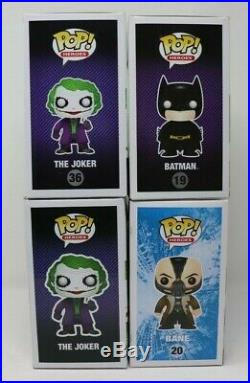 Funko Pop! The Dark Knight Trilogy Set 450 Pc Gemini Ex Joker Bane Batman