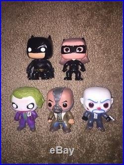 Funko Pop! The Dark Knight set Loose oob Batman Bane Bank Robber Joker Catwoman