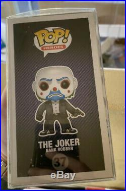 Funko Pop! The Joker (Bank Robber) #37 Vaulted 2013. The Dark Knight withPop Stack