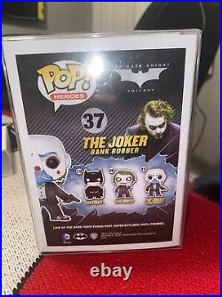 Funko Pop! The Joker Bank Robber AUTHENTIC Vaulted The Dark Knight #37