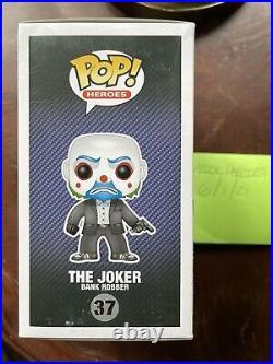 Funko Pop The Joker Bank Robber AUTHENTIC Vaulted The Dark Knight #37 Original