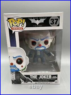 Funko Pop! The Joker Bank Robber AUTHENTIC Vaulted The Dark Knight #37 See Pics
