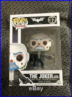 Funko Pop The Joker Bank Robber OOP Vaulted Batman The Dark Knight Trilogy #37