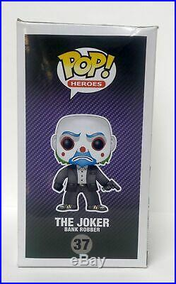Funko Pop Vinyl The Joker Bank Robber 37 The Dark Knight Trilogy Plus PROTECTOR