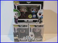 Funko The Dark Knight Trilogy Set of 3 POP! Vinyl Figures, 450 Pc Gemini Ex Joker