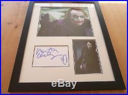 Heath Ledger The Dark Knight Originally Signed Framed Display Uacc Aftal