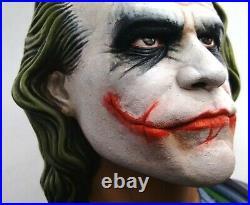 Joker Bust Heath Ledger Batman The Dark Knight Unique 10 12 STATUE LIMTED