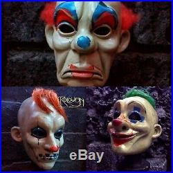 Joker/happy and grumpy latex mask combo The Dark Knight movie of Batman