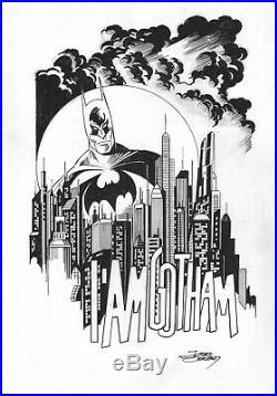 Jose Delbo SIGNED Original DC Comics JLA Art Sketch Batman The Dark Knight