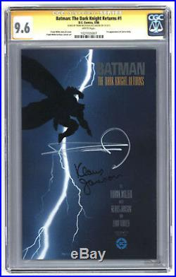 L7115 The Dark Knight Returns #1, 9.6 CGC, SIGNED by Miller and Janson