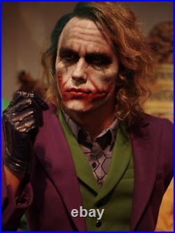Life Size The Joker Wax Statue Dark Knight Batman Movie Prop Display Style 11