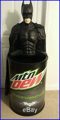NIB The Dark Knight Rises Batman Mountain Dew Rolling Cooler with Topper