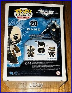 New Funko Pop DC Heroes Batman 20 BANE The Dark Knight Rises Vaulted