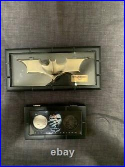 Noble Collection The Dark Knight Batman Batarang And Two-Face Coins