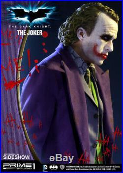 Prime 1 Studio The Dark Knight Heath Ledger Joker 1/2 Statue Sideshow
