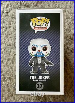 Rare Funko Pop! The Joker Bank Robber Vaulted/Retired The Dark Knight #37 Batman