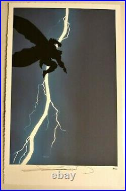 Rare Limited Edition 30/50 Frank Miller Signed Batman The Dark Knight Lithograph