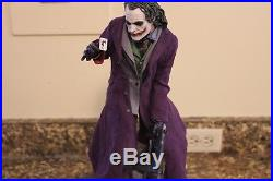 SIDESHOW JOKER BATMAN THE DARK KNIGHT PF FIGURE STATUE Exclusive withextra