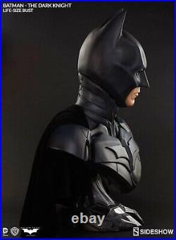 Sideshow 1/1 The Dark Knight Batman Bust. Cape Never Displayed