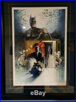 Sideshow Batman The Dark Knight Art Print #79/300 Signed