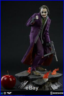 Sideshow Batman The Dark Knight THE JOKER Heath Ledger Premium Format STATUE New