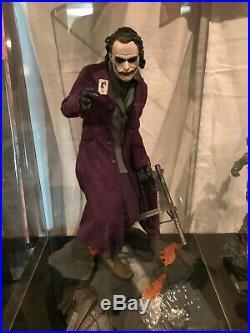 Sideshow JOKER THE DARK KNIGHT 1/4 Premium Format Statue Excellent Condition