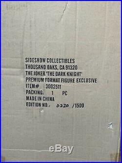 Sideshow Premium Format Figure EXCLUSIVE THE JOKER The Dark Knight #220/1500