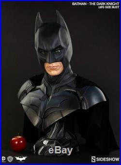 Sideshow The Dark Knight Batman Christian Bale Life Size Bust No Box