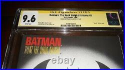 Signed BATMAN THE DARK KNIGHT RETURNS #3 CGC SS 9.6 Frank Miller 1st PRINTING