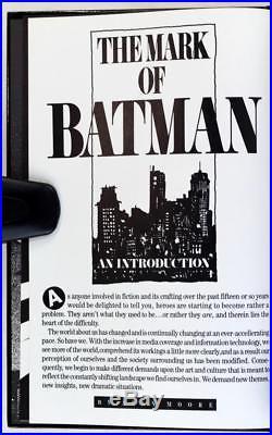 Signed Frank Miller Klaus Janson 1st Ed 1986 Batman The Dark Knight Returns