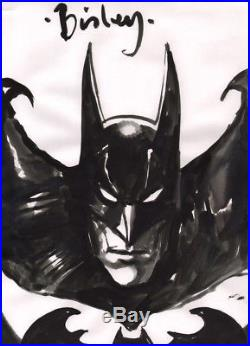 Simon Bisley SIGNED Original DC Comics Art Sketch Batman The Dark Knight