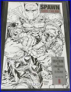 Spawn # 224 CGC 9.8 McFarlane Sketch 110 Variant The Dark Knight Returns Miller