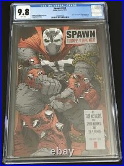 Spawn # 224 CGC 9.8 NM/MT McFarlane Homage The Dark Knight Returns Miller