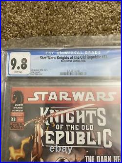 Star Wars Knights Of The Old Republic #33 CGC 9.8 RARE 1st App Darth Hayze