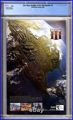 Star Wars Knights Of The Old Republic 9 CGC 9.6 1st Darth Revan Dark Horse 2006