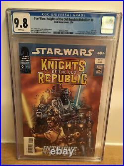 Star Wars Knights Of The Old Republic/rebellion #0 Cgc 9.8 White Pages 2006
